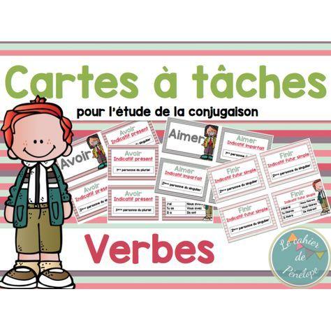 Cartes à tâches: Les verbes Plus