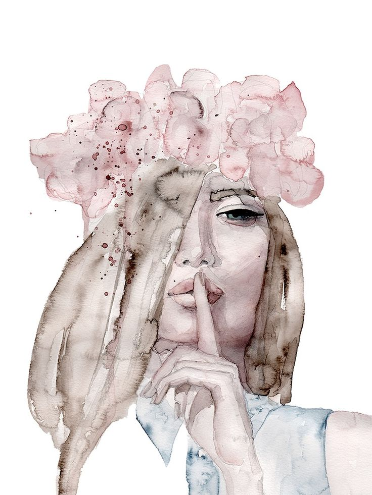 Image of 'Lolita' Watercolor Art Print 30 x 40 cm