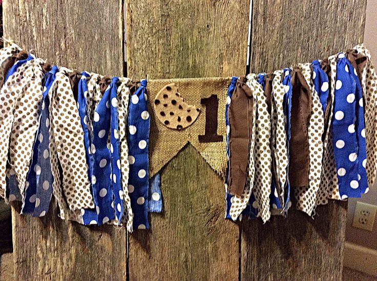 Burlap and Fabric Banner; highchair; first birthday; Cookie Monster inspired by RockyTopCharm on Etsy