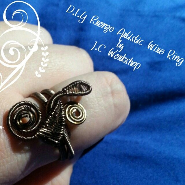 D.I.Y Bronze Artistic Wire Ring by J.C Workshop Interested Please Contact Us At Our Facebook Page J.C Workshop!