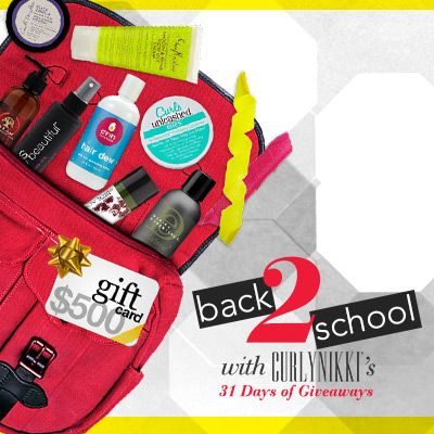 I just entered CurlyNikki Back to School Giveaway to win some amazing curly hair prizes on CurlyNikki.com! You should enter too. It's easy, click here: http://www.naturallycurly.com/giveaways/CurlyNikki-August-2015-Giveaway/st/55e4a834a11764.72184690