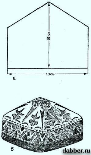 Выкройка тюбетейки