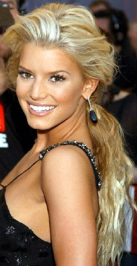 Jessica Simpson Hair Wavy - scripted People
