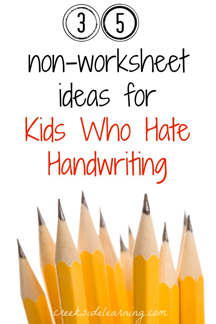 35 handwriting activities for kids who hate handwriting but need the practice--without worksheets.