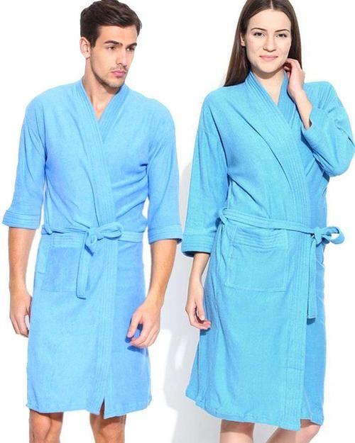 Buy Pack of 2 Wedding Bridal Unisex Bathrobe Soft Cotton - Sky Blue Online  in Karachi 1ebf38f15