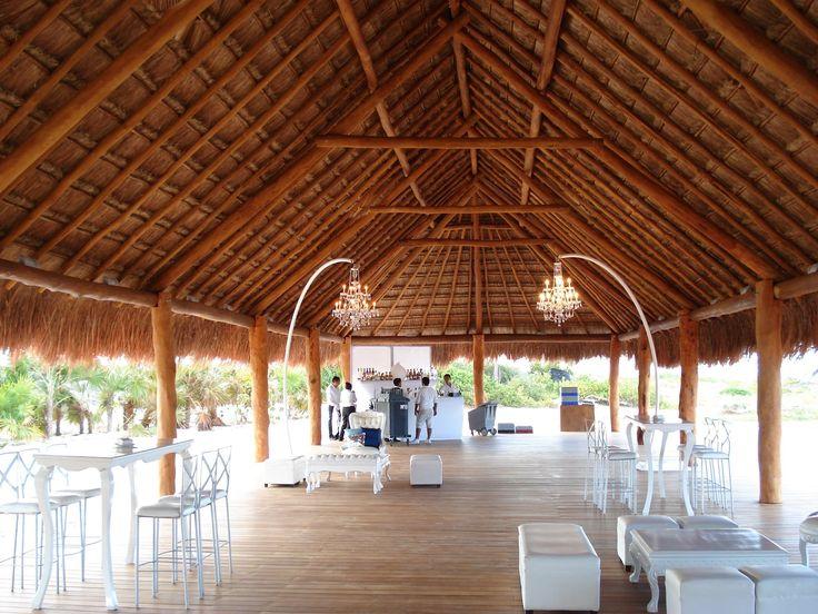Finest Playa Mujeres  Wedding Desk Photo  Grand Palapa