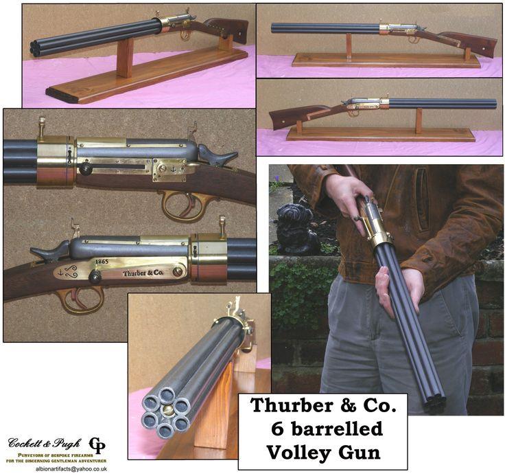 Steampunk - Thurber 6 barrelled volley gun from Cockett and Pugh