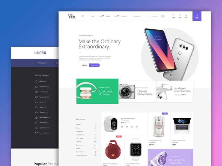 Firstly, I would like to thank @Mallevskiy for the invite. I'm happy to be a dribbble community member.  This is a one of many landing pages in eCommerce project what I working on for the last time...