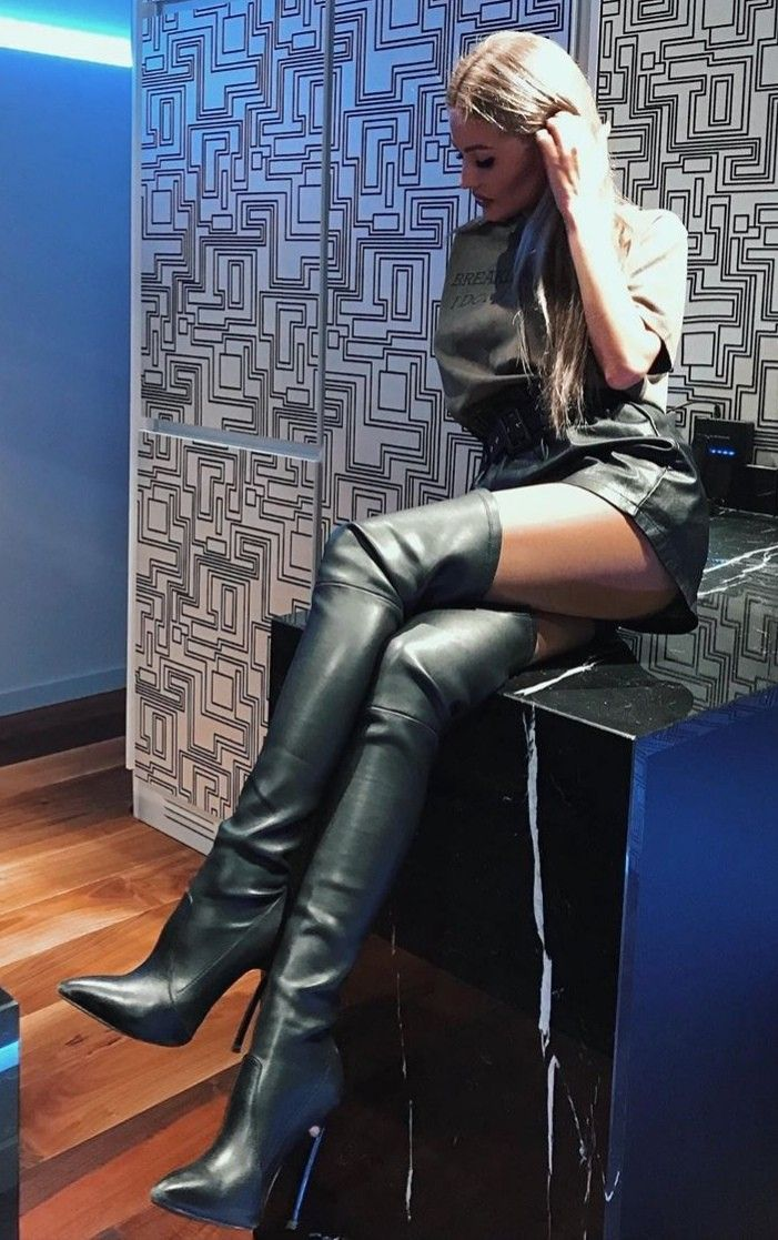 womens red leather knee high boots