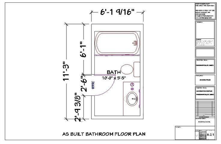 Small Long Narrow Bathroom Floor Plans With Tub Small