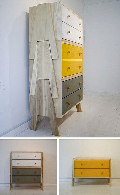"Now that's just cool ! Japanese stackable ""tree"" drawers from Chigo by Landscape Products Co."