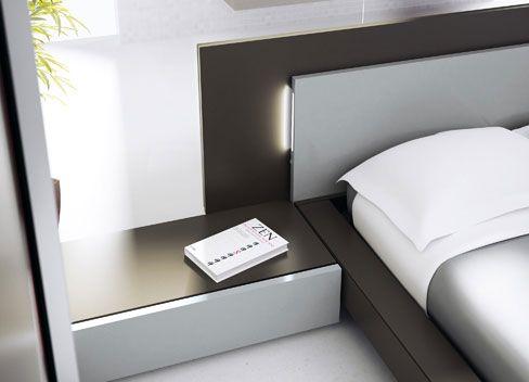 Cabeceros de cama modernos. Cabecero Nuit con LEDS incorporados.
