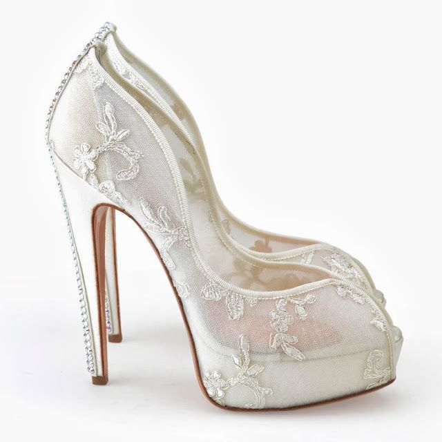a breathtaking collection of white bridal shoes for your wedding day plateforme bridal