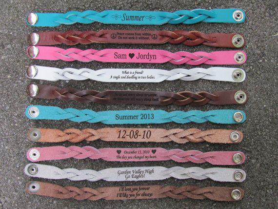 Braided Leather Bracelet With A Custom Laser By Leatherleaf My Favorite Type Of 3 11 95 Boyfriend Pinterest Bracelets