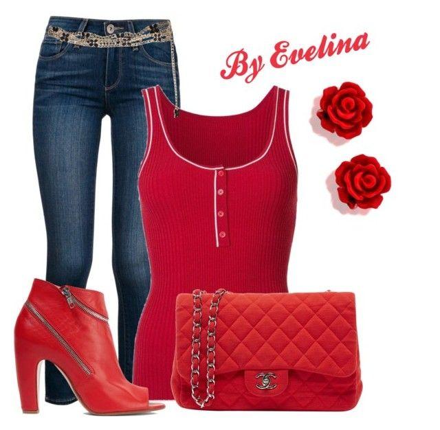 """EVE"" by evelina-er on Polyvore featuring Paige Denim, Misha Nonoo, Chanel and Maison Margiela"