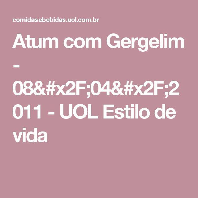 Atum com Gergelim - 08/04/2011 - UOL Estilo de vida