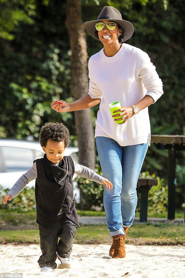 Who said adults can't have fun too? Kelly Rowland embraced her playful side on Thursday as she was spotted having fun with her son Titan, two, at the park in Beverly Hills