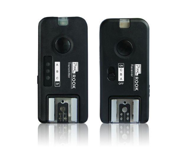 Pixel Radio Trigger Set Rook voor Canon  De ROOK van Pixel is een professionele triggerset waarmee u een cameraflitser draadloos laat afgaan. U kunt de flitsers in 1 2 of 3 groepen verdelen en snel schakelen tussen 7 verschillende combinaties. Hiervoor heeft u meerdere ROOK ontvangers nodig.  Verder biedt de ROOK triggerset een wake-up functie voor flitsers. De zender heeft ook een flitsschoen en deze ondersteunt tevens TTL (de ontvangerniet). Dat betekent dat u bovenop de zender een…