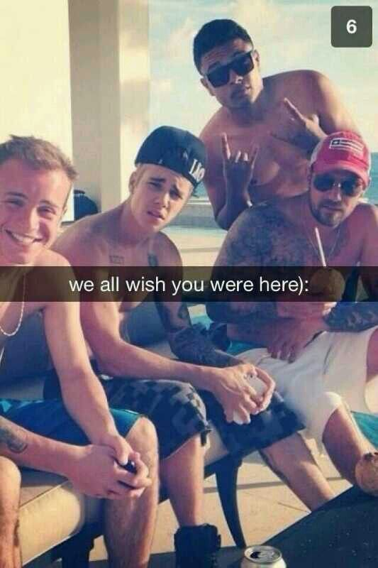 Ryan, Alfredo, Jeremy Bieber and Justin Bieber all want me there. Too bad it's just an #imagine