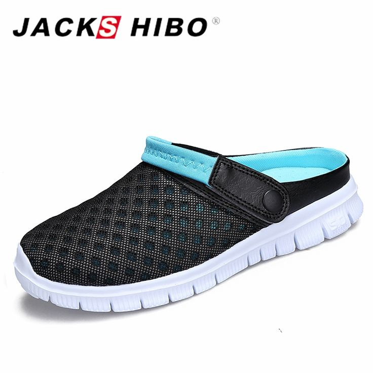 >> Click to Buy << JACKSHIBO Summer Men Slippers Shoes 2017 Fashion Mesh Slides Unisex Beach Sandals Big Size men Slip on slippers zapatos hombre #Affiliate