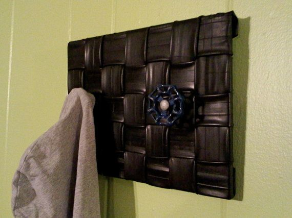 Upcycled Bicycle Inner Tube Coat or Garment Rack by GroovyGarbage, $52.00
