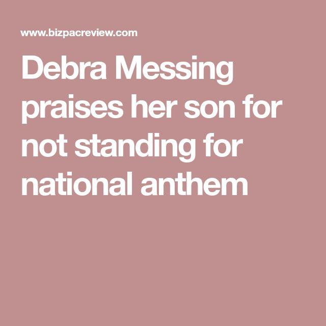 Debra Messing praises her son for not standing for national anthem