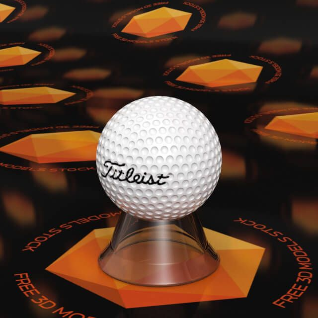 The golf ball 3d model can be used for video compositing and architectural scenes sport related like stores or game fields.