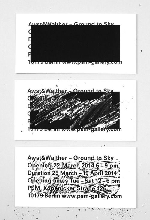 type-lover:  Awst & Walther - Exhibition Invitationby Studio...