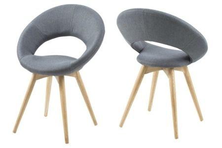 Plump krzesło - ciemno szare