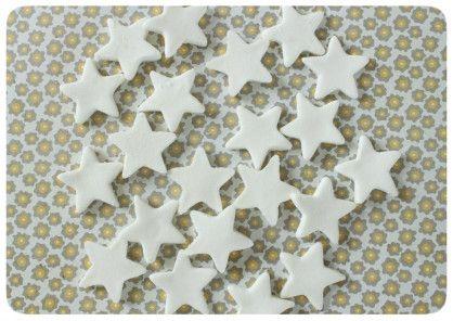 guirlande étoile en pâte bicarbonate + maïzena