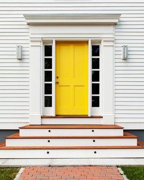 yellow shaker door