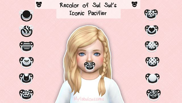 Sims 4 CC's - The Best: Sweet pacifiers by My Fabulous Sims