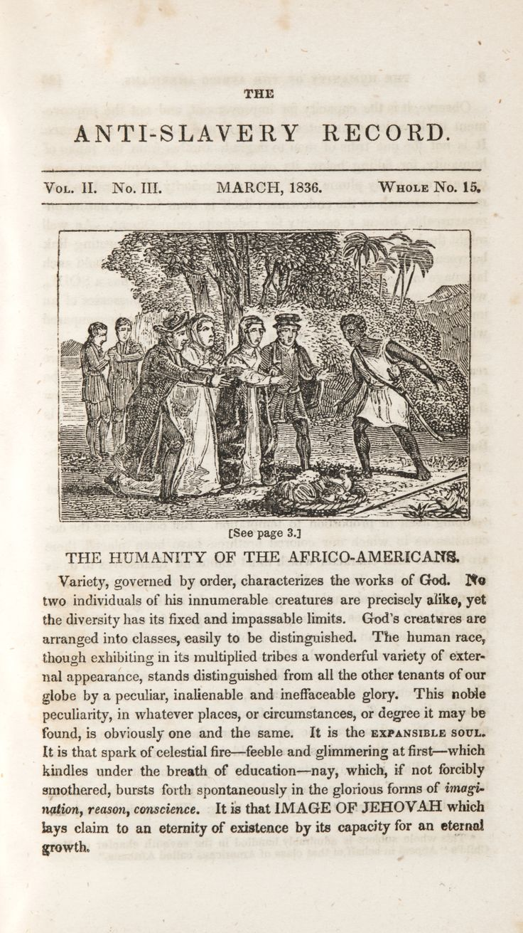 best images about abolitionists in our collection this page from the 1836 issue of the anti slavery record stresses the commonality