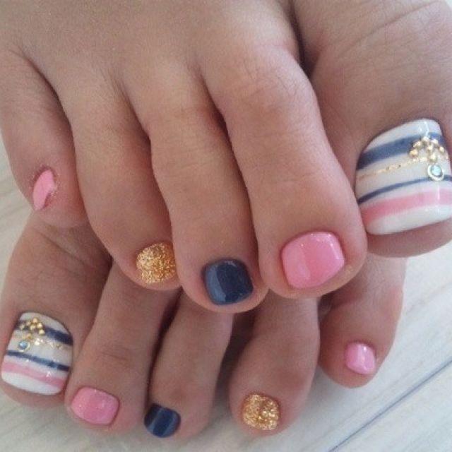 love these colors: Toenails, Nails Art, Nailart, Cute When, Color, Nailsart, Summer Nails, Toe Nails Design, Pedicure