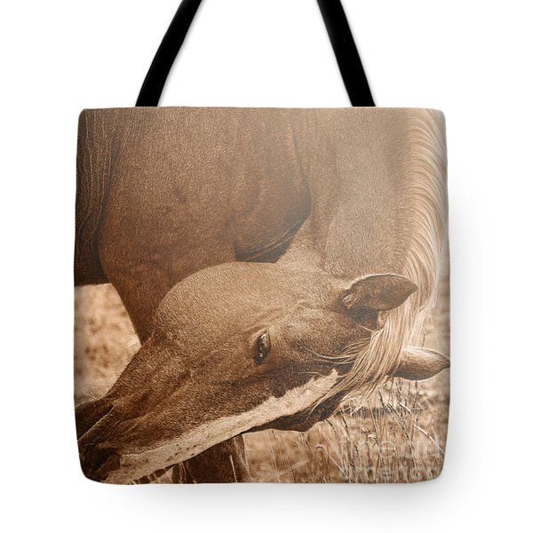 All Tote Bags - Sunlight Grace horse Tote Bag by Amanda Smith