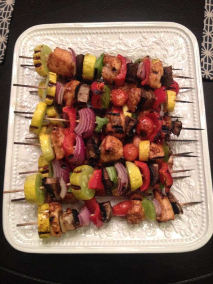 Dolce Diet recipe - Maple BBQ Chicken Kabobs. Kids battled for every last piece. Delicious.