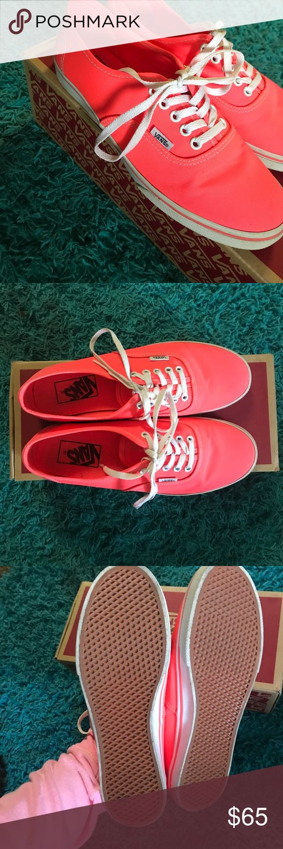 Coral vans Size 7.5 women's coral / pink low rise vans! New in box and super cute! New in box! Vans Shoes Sneakers