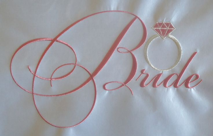 Bridal Embroidery Sample.  Wedding Accessories Perth