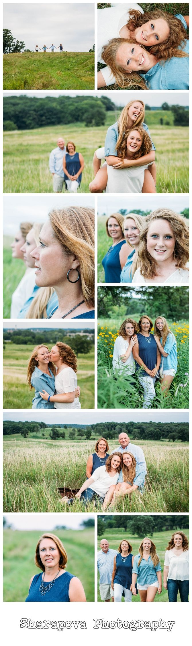 """Wandering The Wisconsin Prairie"" - Natural light outdoor family pictures, parents with their college kids by Sharapova Photography"