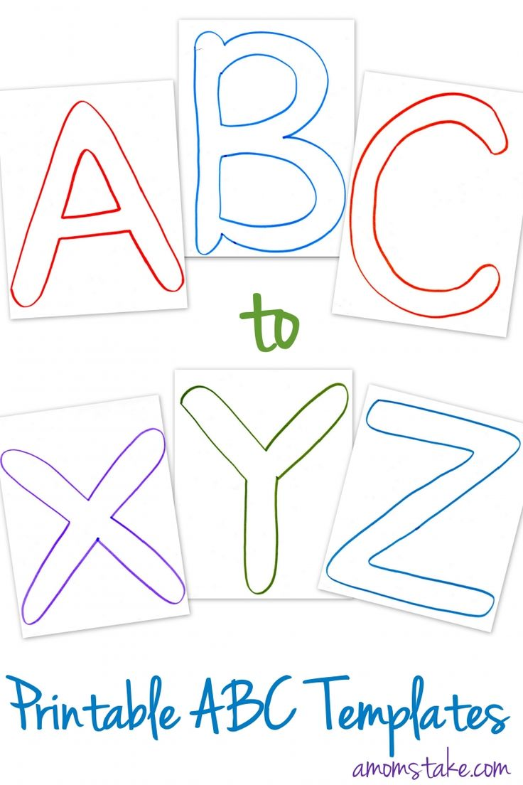 Free Abc Printable Letter Templates For Preschool Or Learning