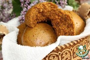 Медовые пряники с грецкими орехами на пару