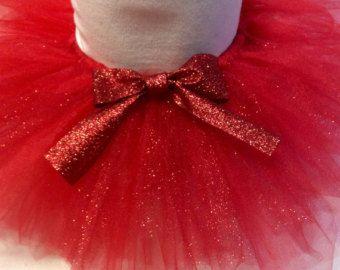 Red glitter tutu, red tutu, red baby tutu, christmas tutu, valentines tutu, 4th of july tutu, glitter tutu, red girl tutu, glitter tutu, red