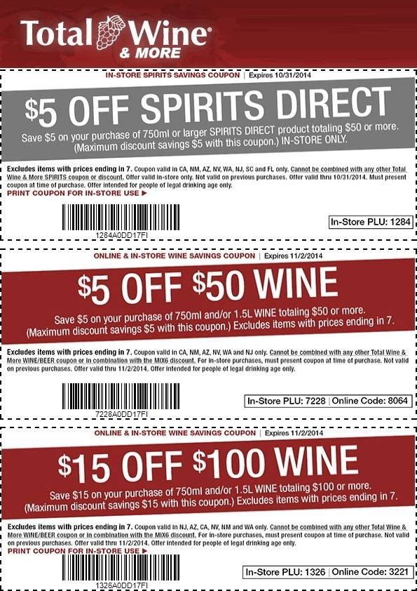 photograph about Total Wine Coupon Printable identified as Pin upon Printables