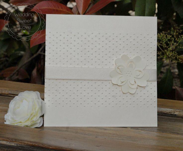 Polka dots Romantic wedding invitation