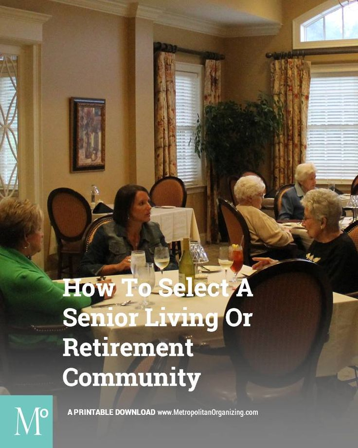 Selecting A Retirement Community: Checklist