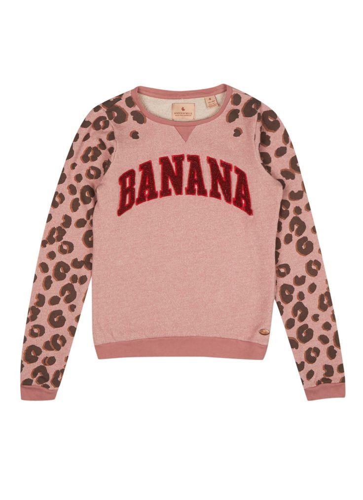scotch r 39 belle sweater banana met panteropdruk de. Black Bedroom Furniture Sets. Home Design Ideas