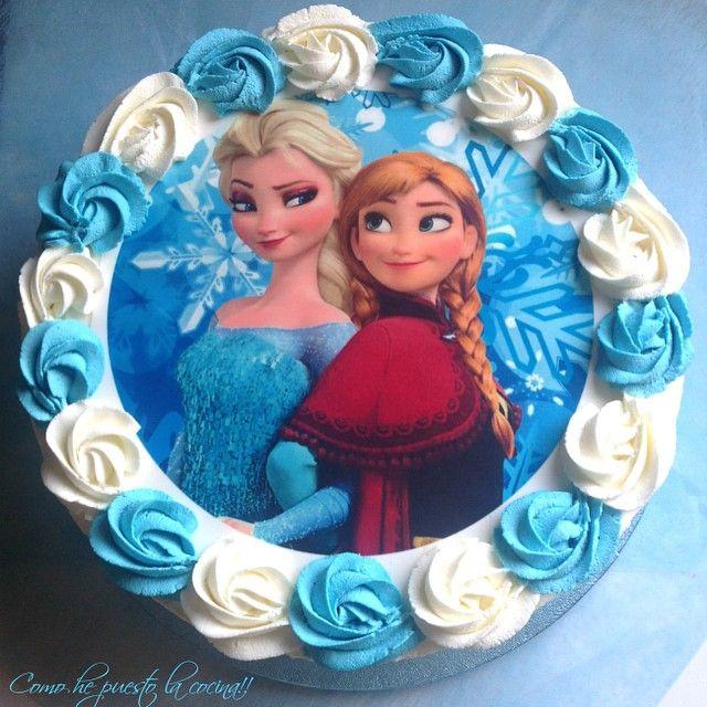 Tarta frozen tarta infantil tarta con papel de az car - Papel de transferencia para plancha ...