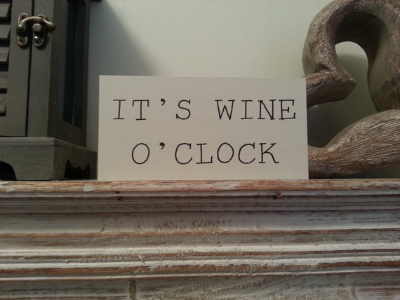 Handpainted Its Wine O Clock Shabby Chic by LoveLettersMe, £4.00