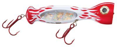"""Williamson Lures Jet Popper Topwater Lures - 5-1/4"""" - Red White Flame"""