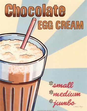 Ever tried a good old fashioned New York egg cream? Oddly there's neither egg nor cream in them. My recipe is this:  - Squeeze about 3/4 of an inch of chocolate syrup into the glass (U-bet is the preferred brand, but Hershey works well too.) - Fill half the glass with milk. - Fill the rest with seltzer water. Be sure to stir rapidly as you add the seltzer for that nice foamy head. Enjoy!  #eggcream #sodashop #recipes #chocolate #delicious